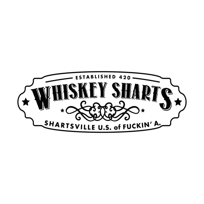 Whiskey Sharts Black Fuckin' Logo by Grab Yer Shit N' Git