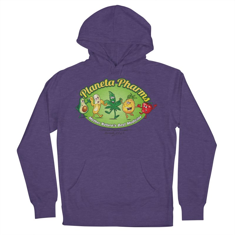 Planeta Pharms Women's French Terry Pullover Hoody by Grab Yer Shit N' Git