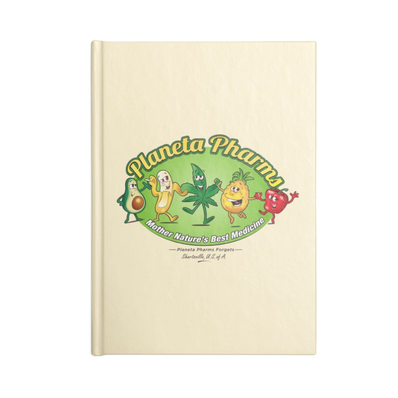 Planeta Pharms Accessories Lined Journal Notebook by Grab Yer Shit N' Git