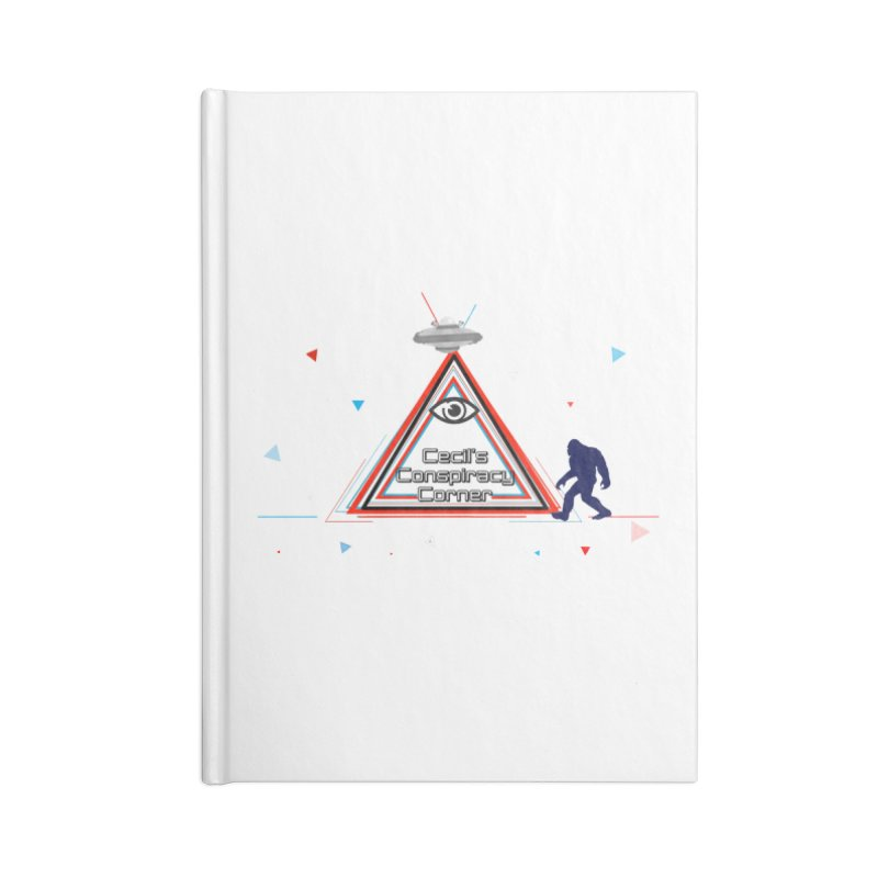 Cecil's Conspiracy Corner Accessories Lined Journal Notebook by Grab Yer Shit N' Git