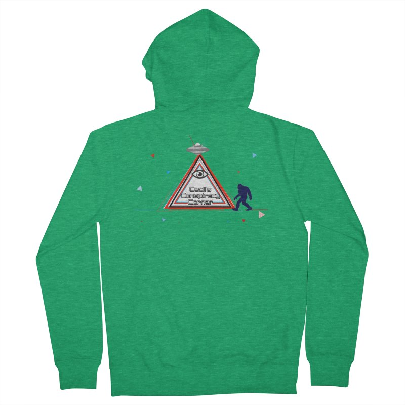 Cecil's Conspiracy Corner Women's French Terry Zip-Up Hoody by Grab Yer Shit N' Git