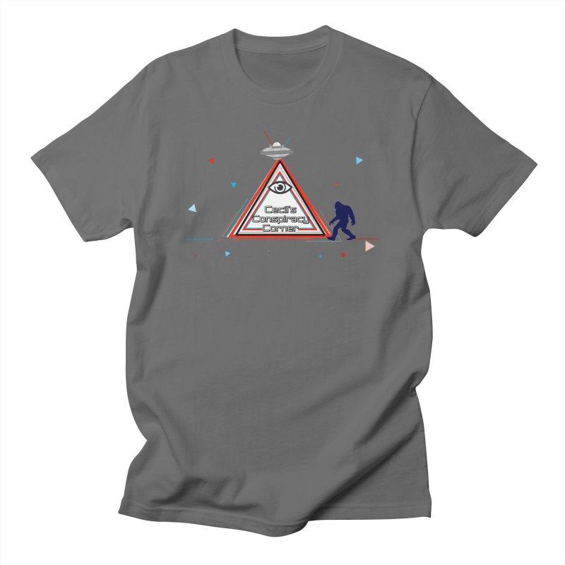 Cecil's Conspiracy Corner Men's T-Shirt by Grab Yer Shit N' Git