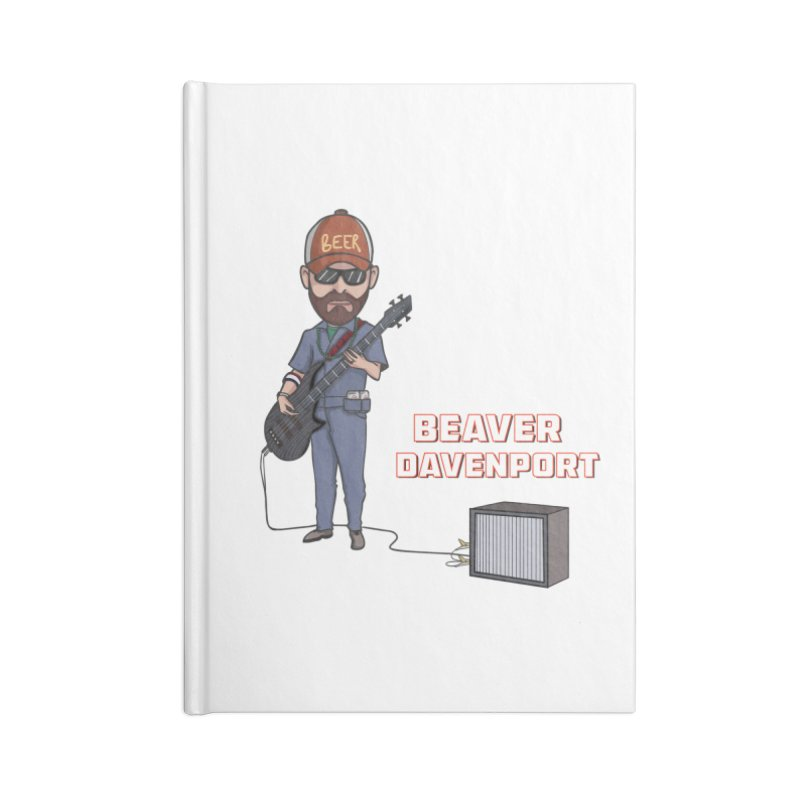 Cartoon Beaver Accessories Lined Journal Notebook by Grab Yer Shit N' Git