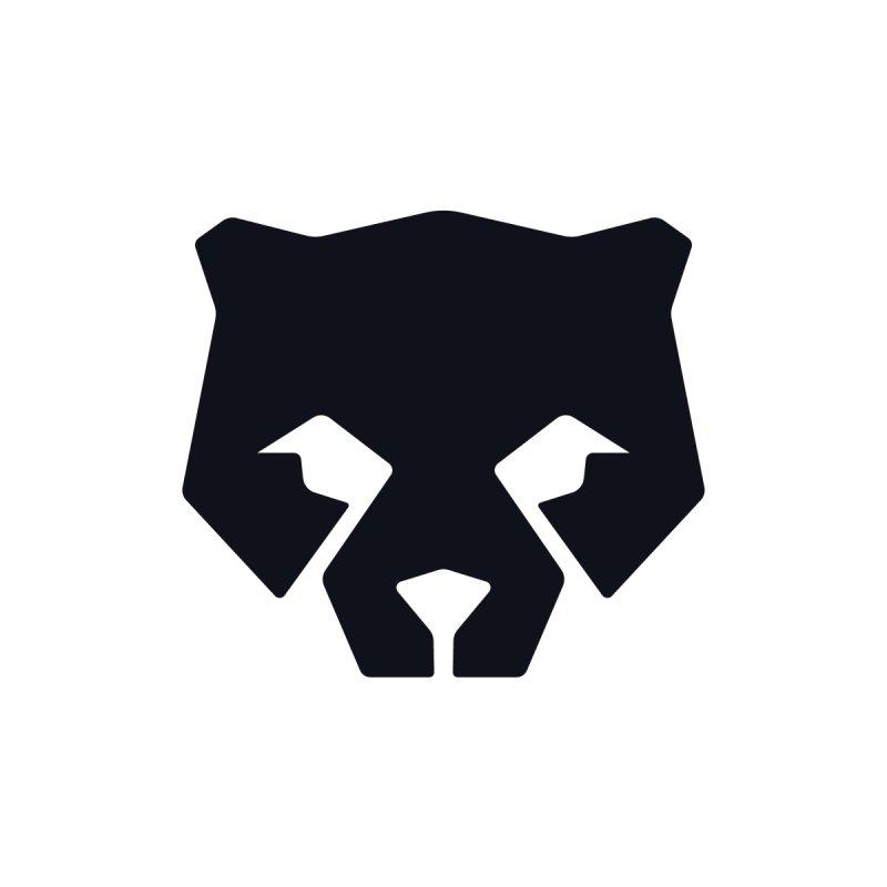 Whitebear Logo Black Men's V-Neck by whitebear