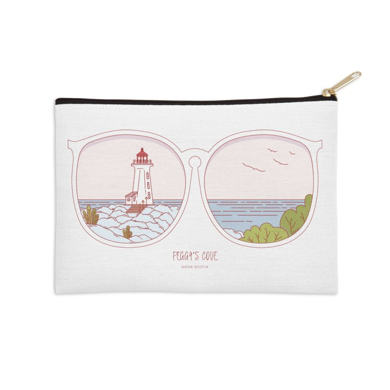 Canadian Sunnies | Peggy's Cove Accessories Zip Pouch by whitechaircreative's Artist Shop