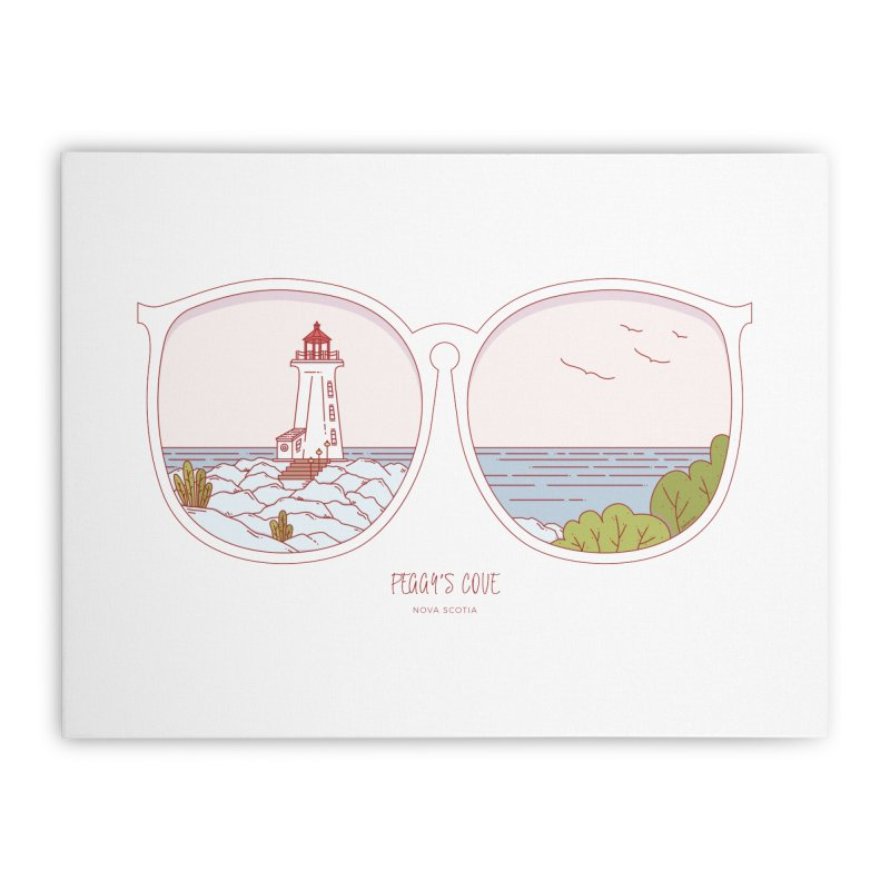 Canadian Sunnies | Peggy's Cove Home Stretched Canvas by whitechaircreative's Artist Shop