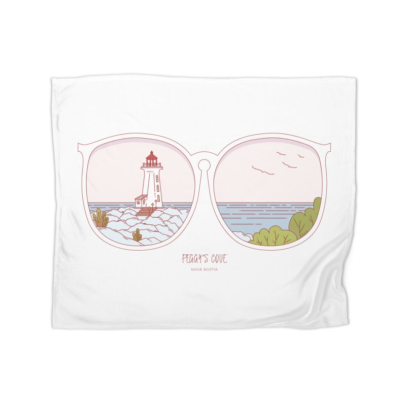 Canadian Sunnies | Peggy's Cove Home Fleece Blanket Blanket by whitechaircreative's Artist Shop