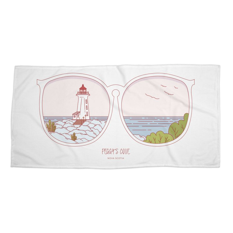 Canadian Sunnies | Peggy's Cove Accessories Beach Towel by whitechaircreative's Artist Shop