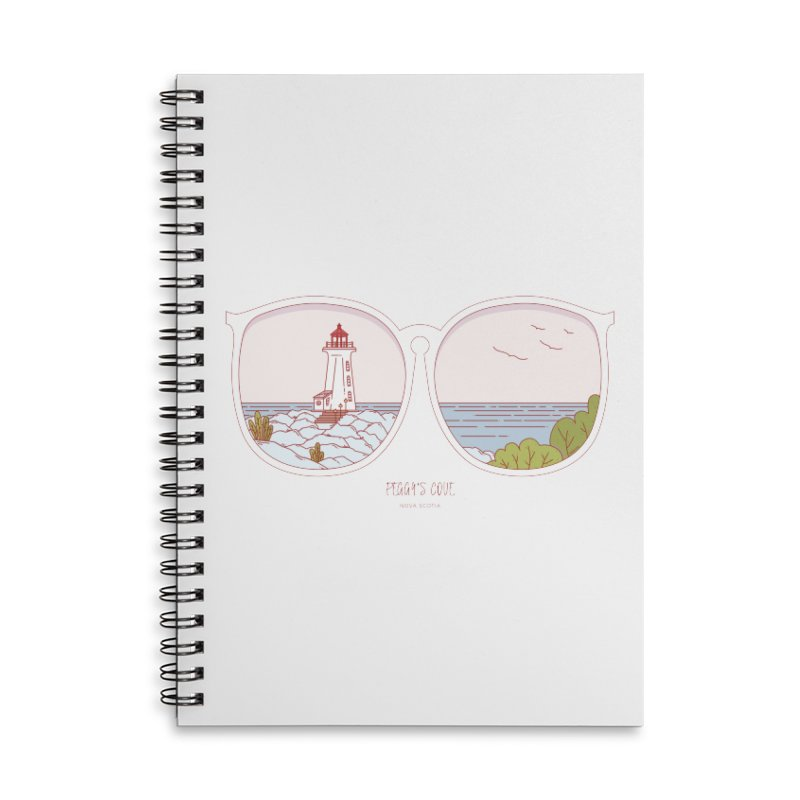 Canadian Sunnies | Peggy's Cove Accessories Lined Spiral Notebook by whitechaircreative's Artist Shop