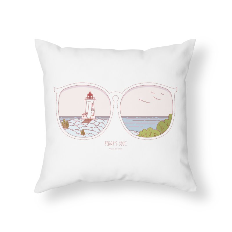 Canadian Sunnies | Peggy's Cove Home Throw Pillow by whitechaircreative's Artist Shop