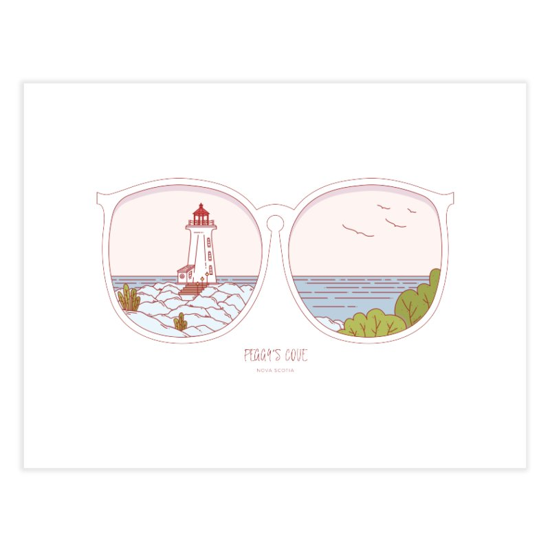 Canadian Sunnies | Peggy's Cove Home Fine Art Print by whitechaircreative's Artist Shop