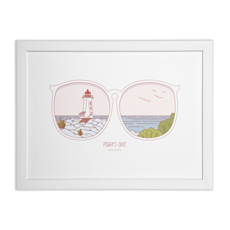 Canadian Sunnies | Peggy's Cove Home Framed Fine Art Print by whitechaircreative's Artist Shop
