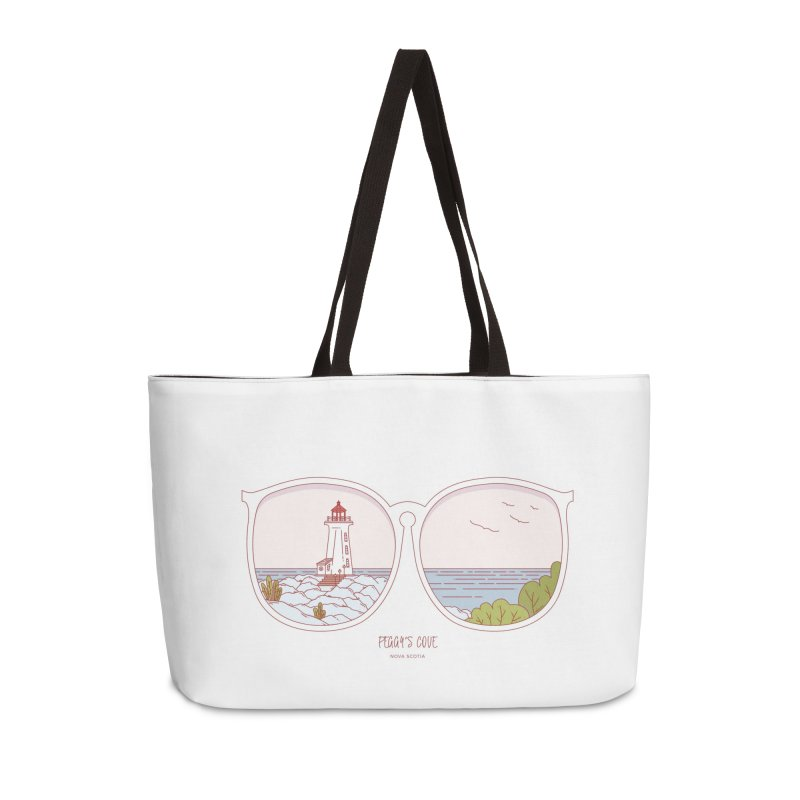 Canadian Sunnies | Peggy's Cove Accessories Weekender Bag Bag by whitechaircreative's Artist Shop