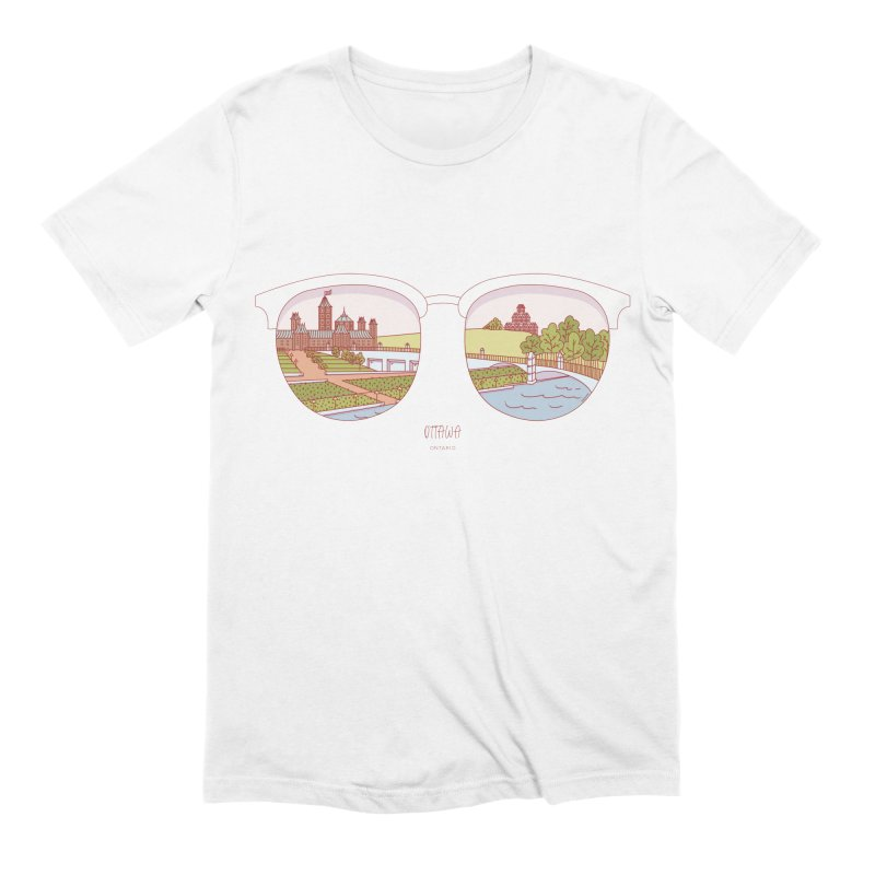 Canadian Sunnies | Ottawa Men's Extra Soft T-Shirt by whitechaircreative's Artist Shop