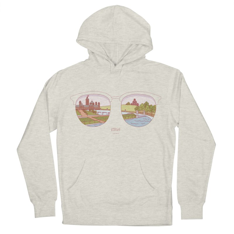 Canadian Sunnies | Ottawa Men's French Terry Pullover Hoody by whitechaircreative's Artist Shop