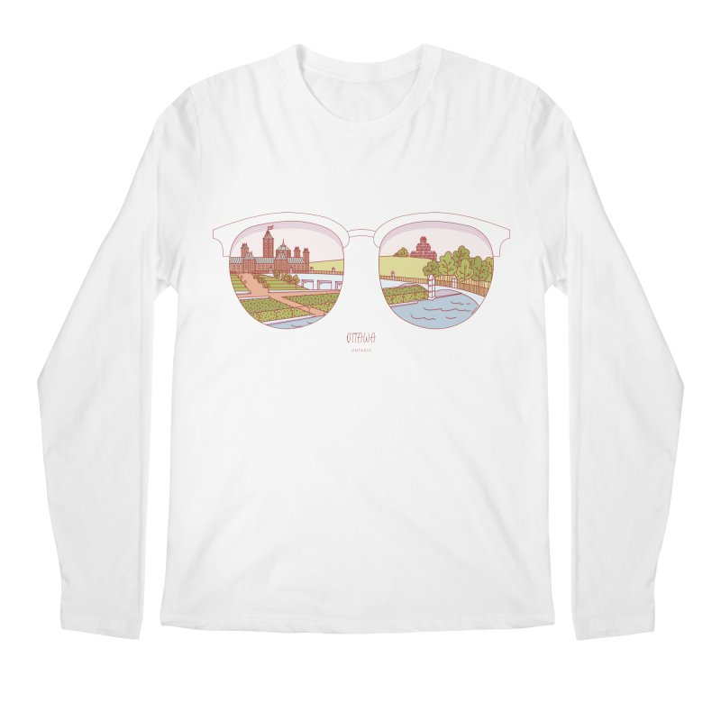 Canadian Sunnies | Ottawa Men's Regular Longsleeve T-Shirt by whitechaircreative's Artist Shop