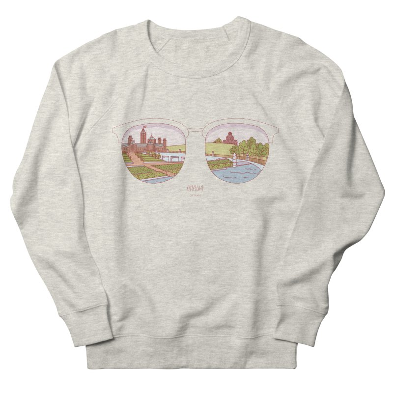 Canadian Sunnies | Ottawa Men's French Terry Sweatshirt by whitechaircreative's Artist Shop