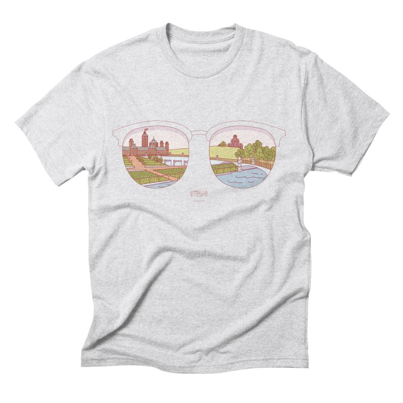 Canadian Sunnies | Ottawa Men's Triblend T-Shirt by whitechaircreative's Artist Shop