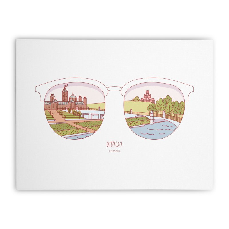 Canadian Sunnies | Ottawa Home Stretched Canvas by whitechaircreative's Artist Shop