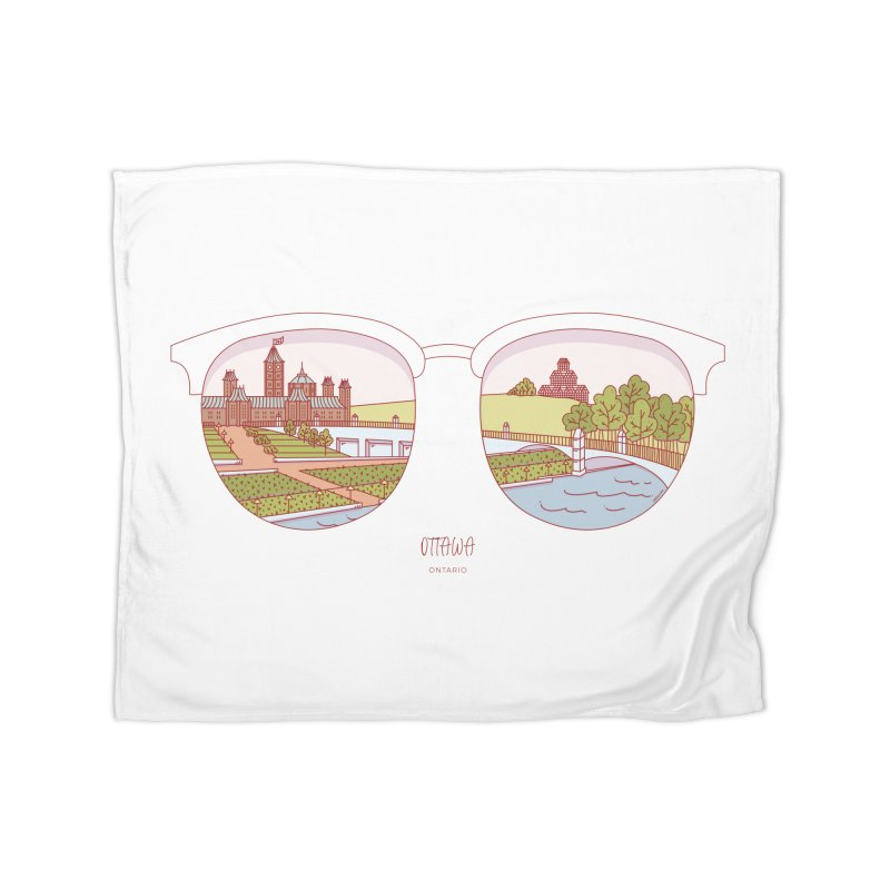 Canadian Sunnies | Ottawa Home Fleece Blanket Blanket by whitechaircreative's Artist Shop