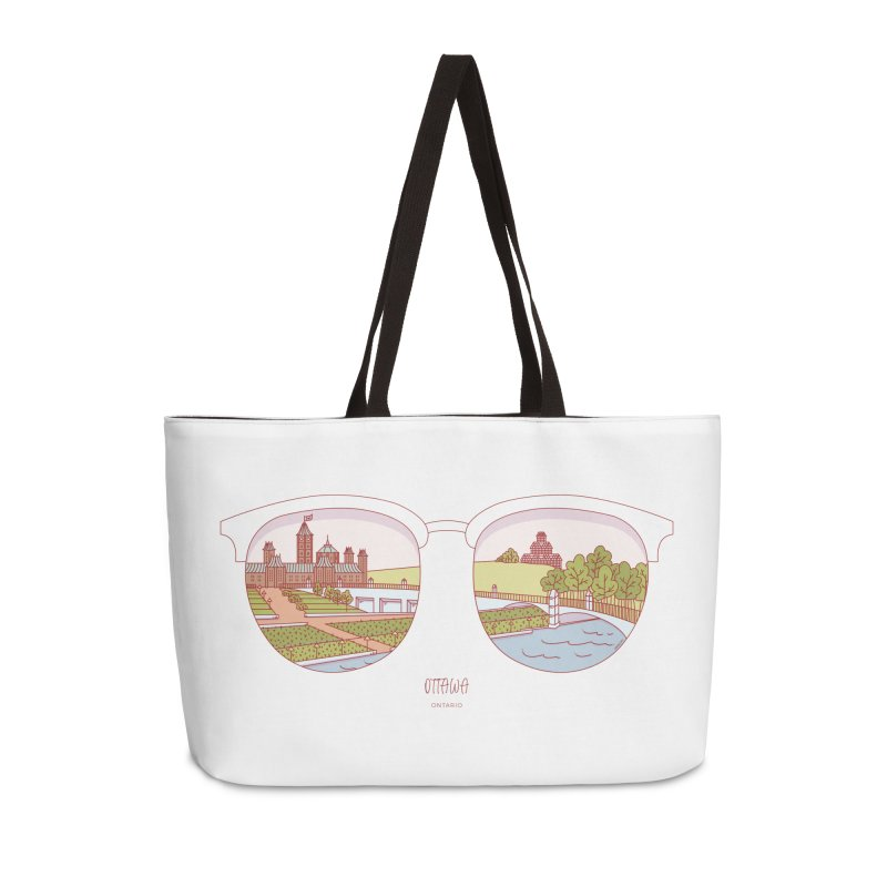 Canadian Sunnies | Ottawa Accessories Weekender Bag Bag by whitechaircreative's Artist Shop