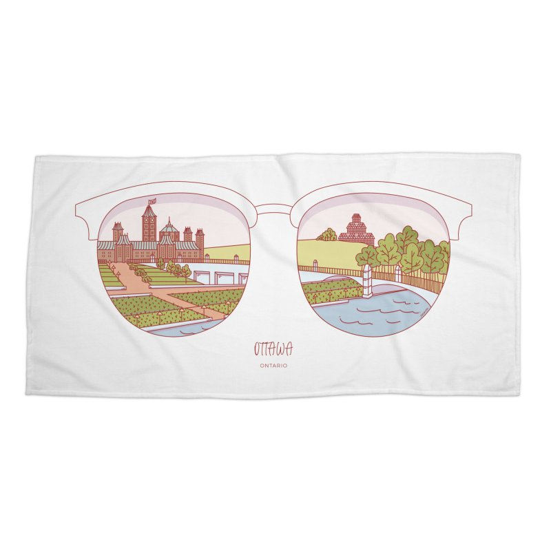 Canadian Sunnies | Ottawa Accessories Beach Towel by whitechaircreative's Artist Shop