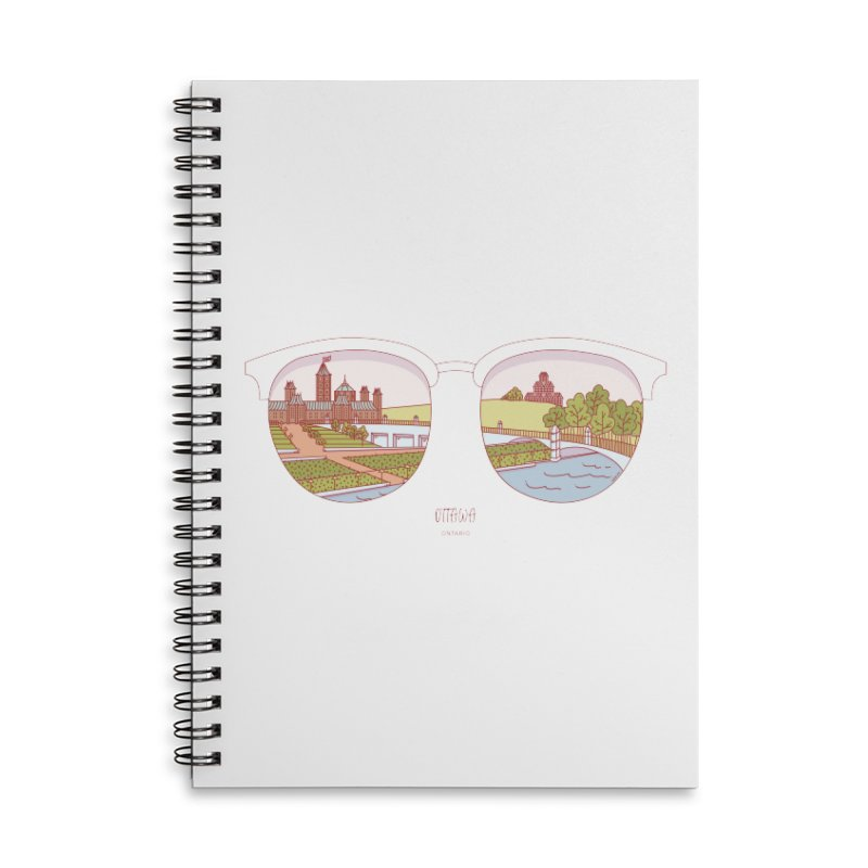 Canadian Sunnies | Ottawa Accessories Lined Spiral Notebook by whitechaircreative's Artist Shop
