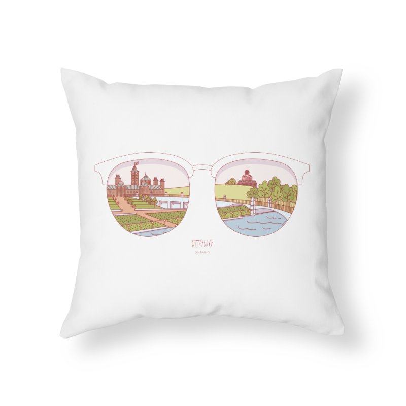 Canadian Sunnies | Ottawa Home Throw Pillow by whitechaircreative's Artist Shop
