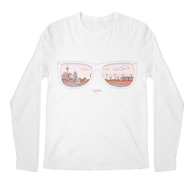 Canadian Sunnies | Toronto Men's Regular Longsleeve T-Shirt by whitechaircreative's Artist Shop