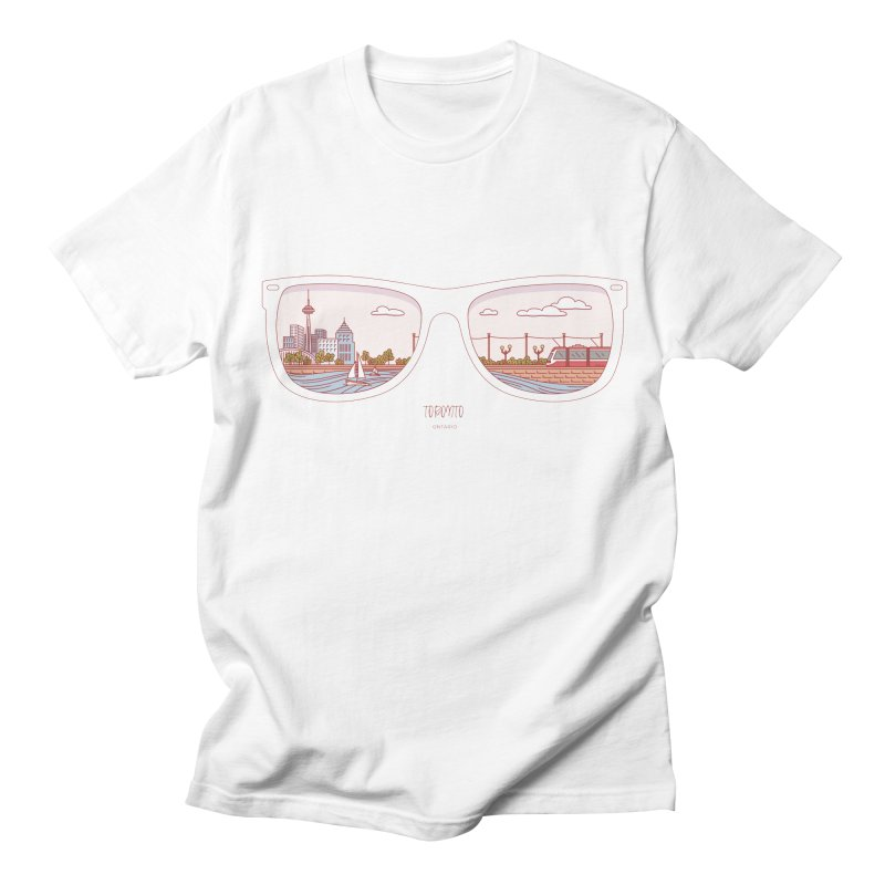 Canadian Sunnies | Toronto Men's Regular T-Shirt by whitechaircreative's Artist Shop