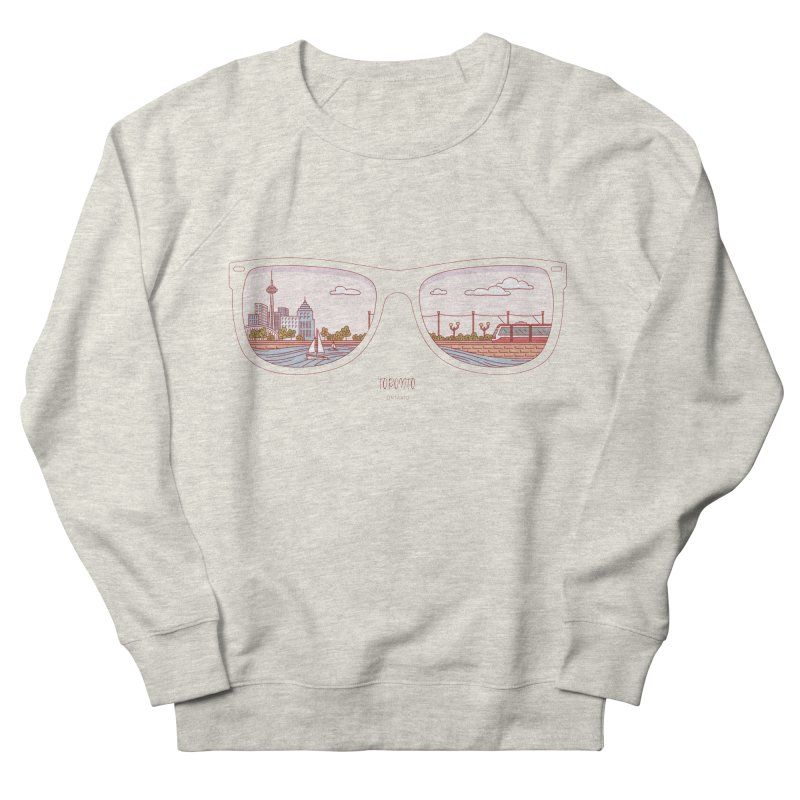 Canadian Sunnies | Toronto Men's French Terry Sweatshirt by whitechaircreative's Artist Shop