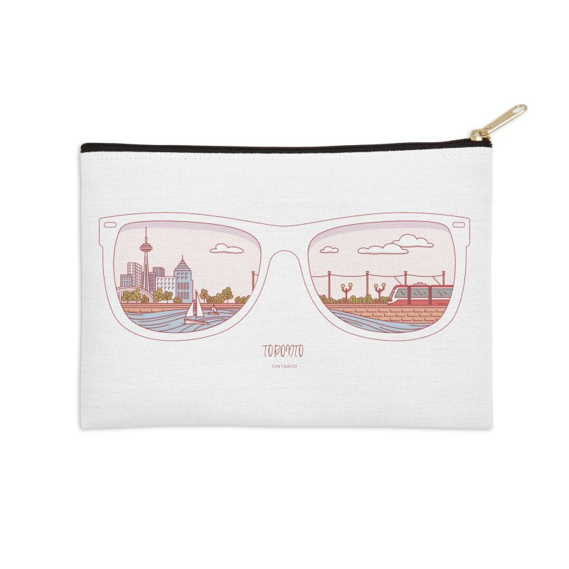 Canadian Sunnies | Toronto Accessories Zip Pouch by whitechaircreative's Artist Shop