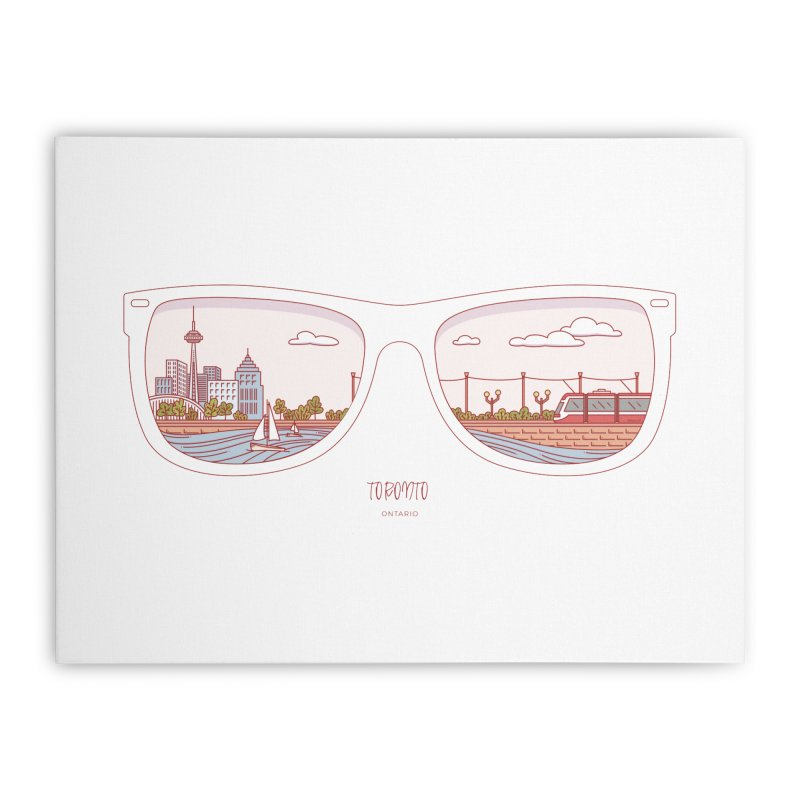 Canadian Sunnies | Toronto Home Stretched Canvas by whitechaircreative's Artist Shop