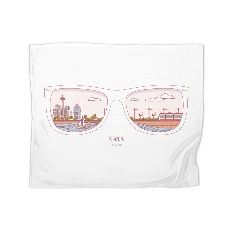 Canadian Sunnies | Toronto Home Fleece Blanket Blanket by whitechaircreative's Artist Shop