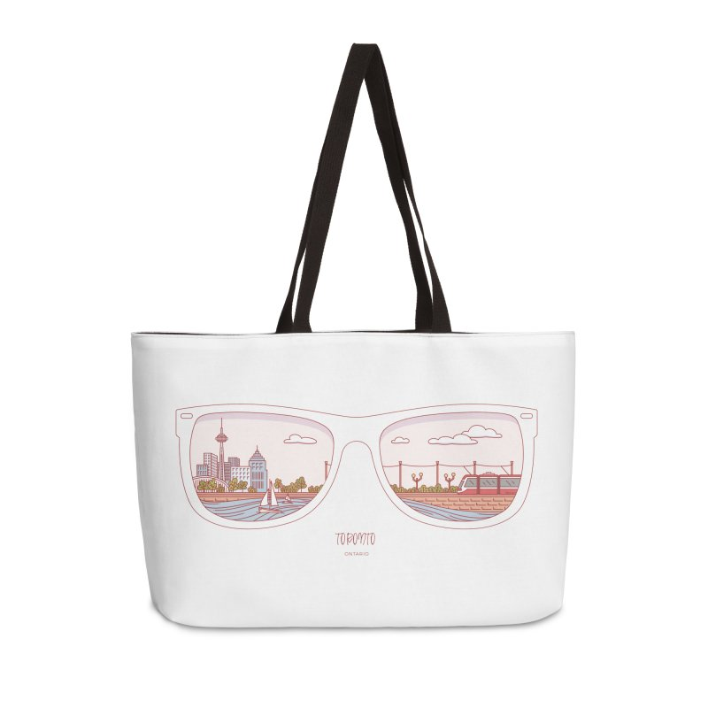 Canadian Sunnies | Toronto Accessories Weekender Bag Bag by whitechaircreative's Artist Shop