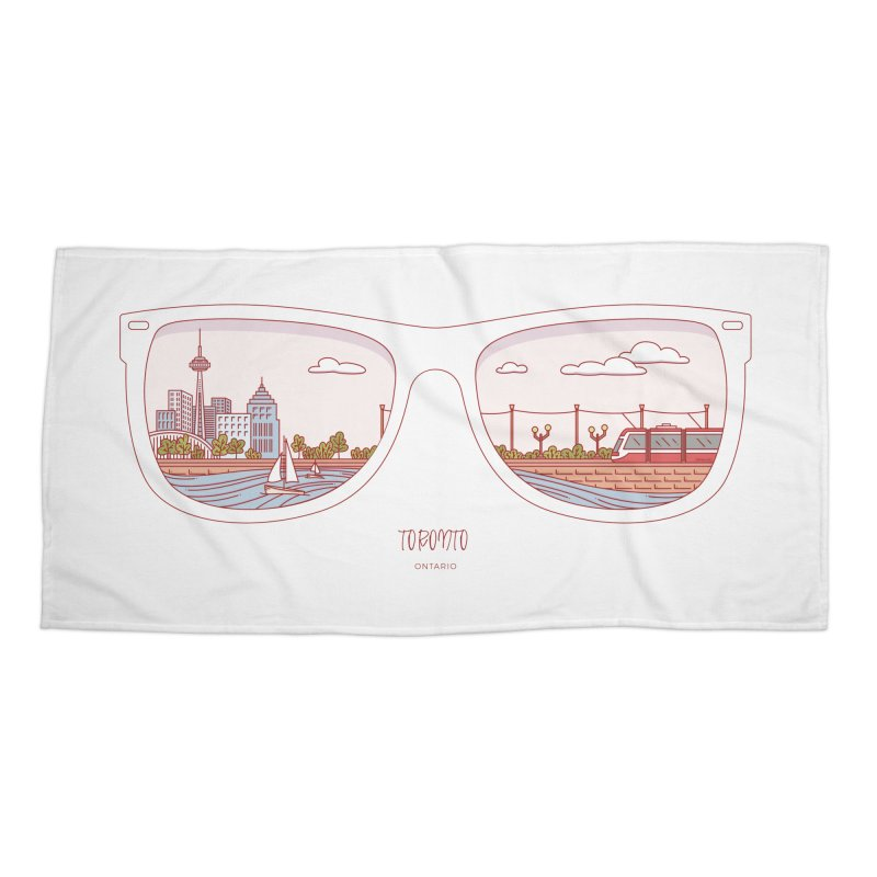 Canadian Sunnies | Toronto Accessories Beach Towel by whitechaircreative's Artist Shop