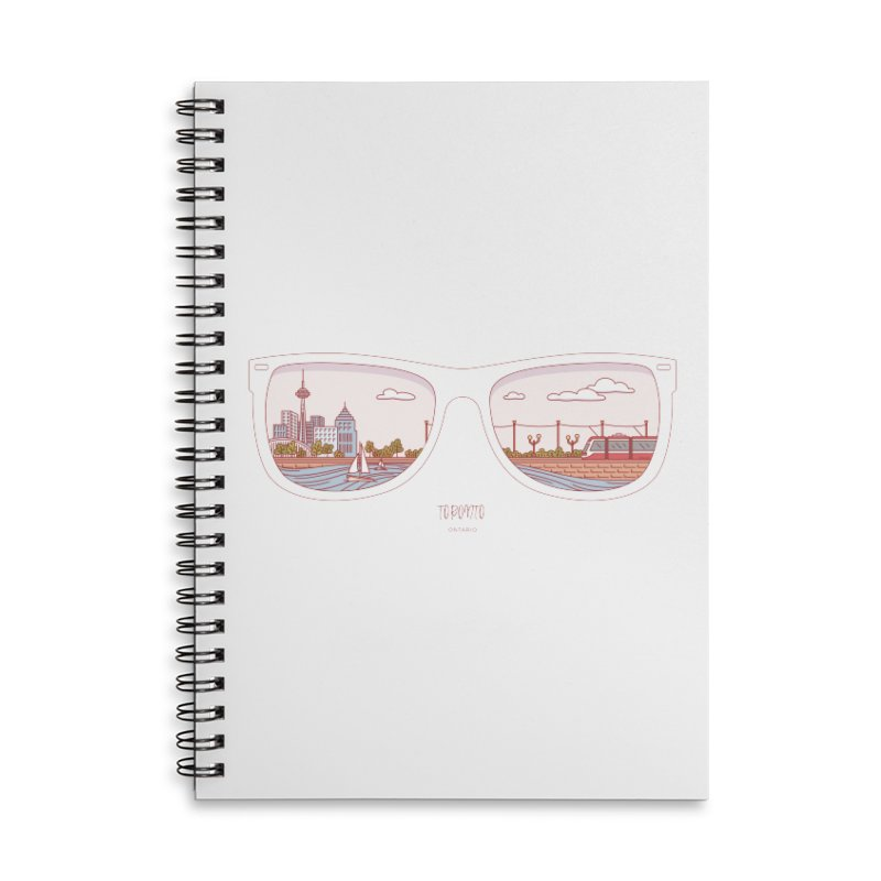 Canadian Sunnies | Toronto Accessories Lined Spiral Notebook by whitechaircreative's Artist Shop