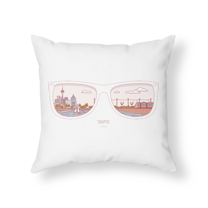 Canadian Sunnies | Toronto Home Throw Pillow by whitechaircreative's Artist Shop