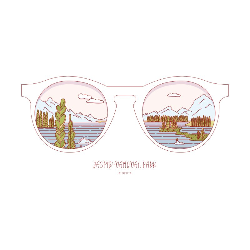 Canadian Sunnies | Jasper National Park by whitechaircreative's Artist Shop