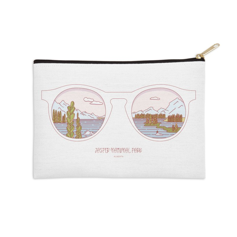 Canadian Sunnies | Jasper National Park Accessories Zip Pouch by whitechaircreative's Artist Shop
