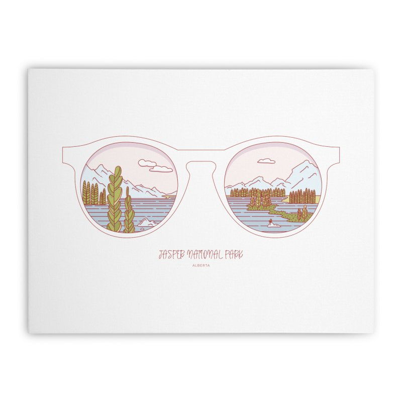 Canadian Sunnies | Jasper National Park Home Stretched Canvas by whitechaircreative's Artist Shop