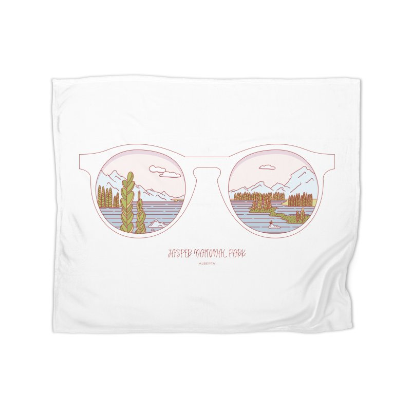 Canadian Sunnies | Jasper National Park Home Fleece Blanket Blanket by whitechaircreative's Artist Shop