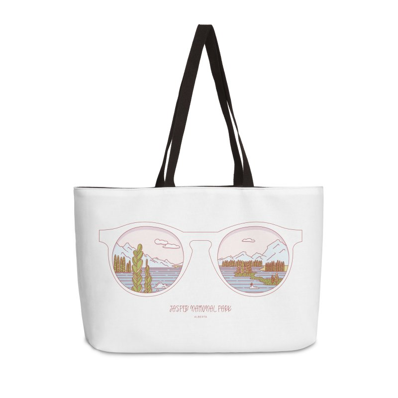 Canadian Sunnies | Jasper National Park Accessories Weekender Bag Bag by whitechaircreative's Artist Shop