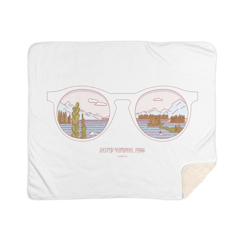 Canadian Sunnies | Jasper National Park Home Sherpa Blanket Blanket by whitechaircreative's Artist Shop