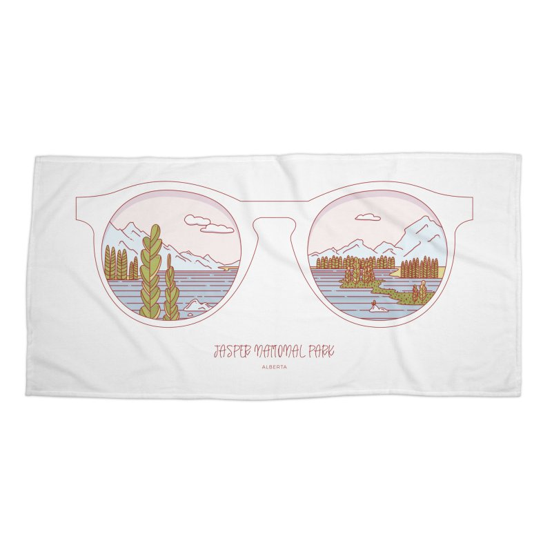 Canadian Sunnies | Jasper National Park Accessories Beach Towel by whitechaircreative's Artist Shop