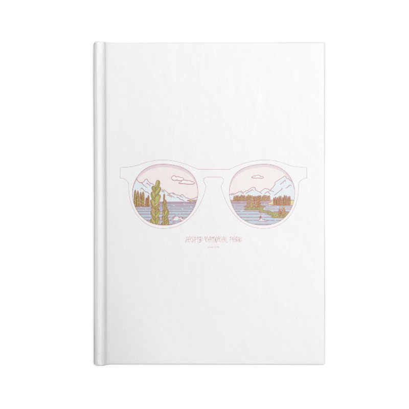 Canadian Sunnies | Jasper National Park Accessories Lined Journal Notebook by whitechaircreative's Artist Shop
