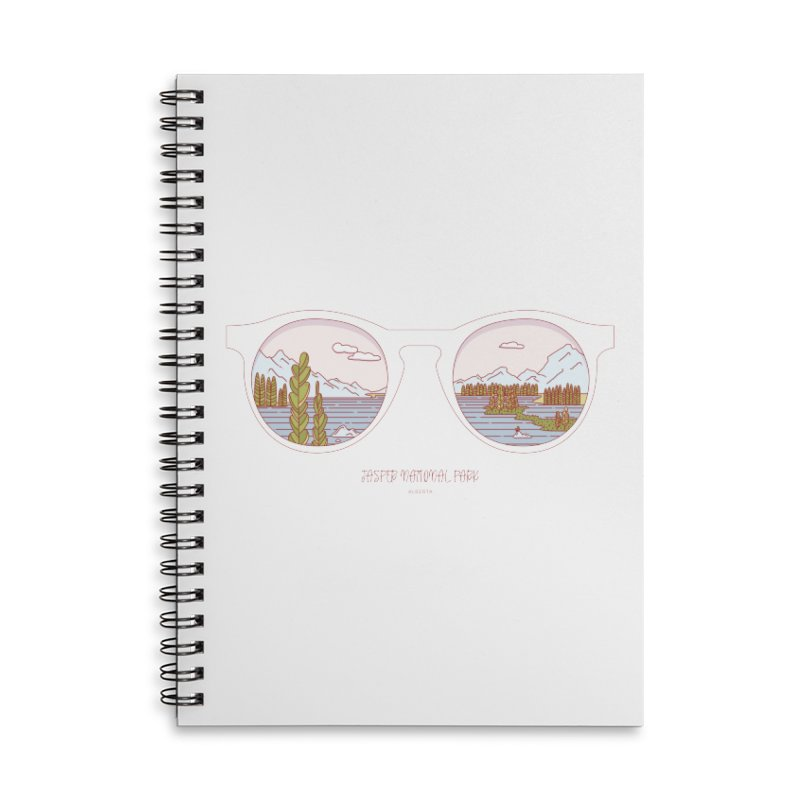 Canadian Sunnies | Jasper National Park Accessories Lined Spiral Notebook by whitechaircreative's Artist Shop