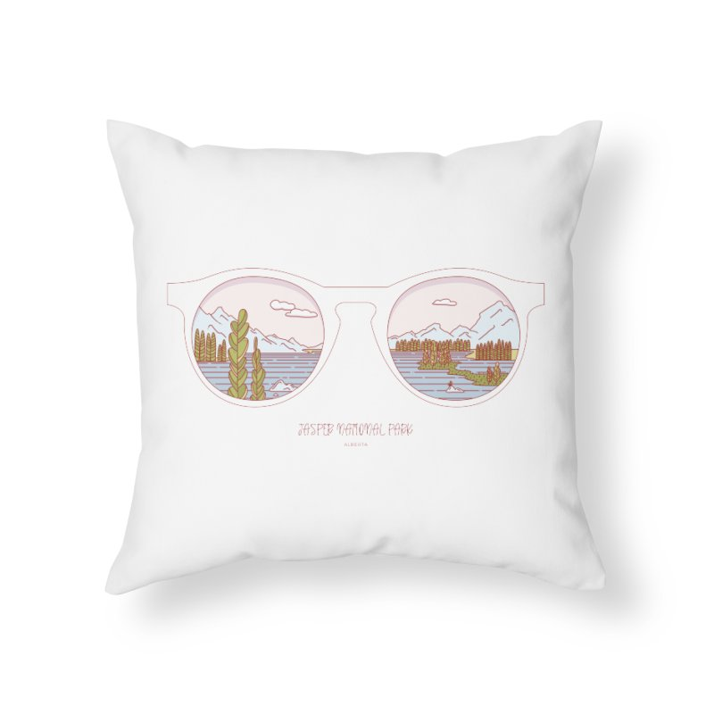 Canadian Sunnies | Jasper National Park Home Throw Pillow by whitechaircreative's Artist Shop