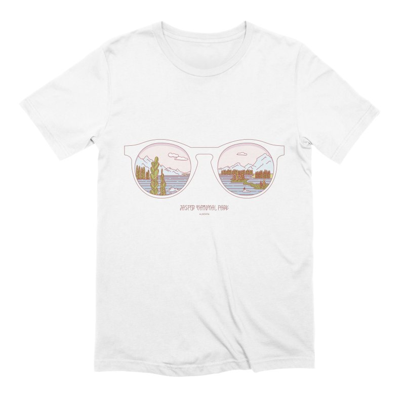 Canadian Sunnies | Jasper National Park in Men's Extra Soft T-Shirt White by whitechaircreative's Artist Shop