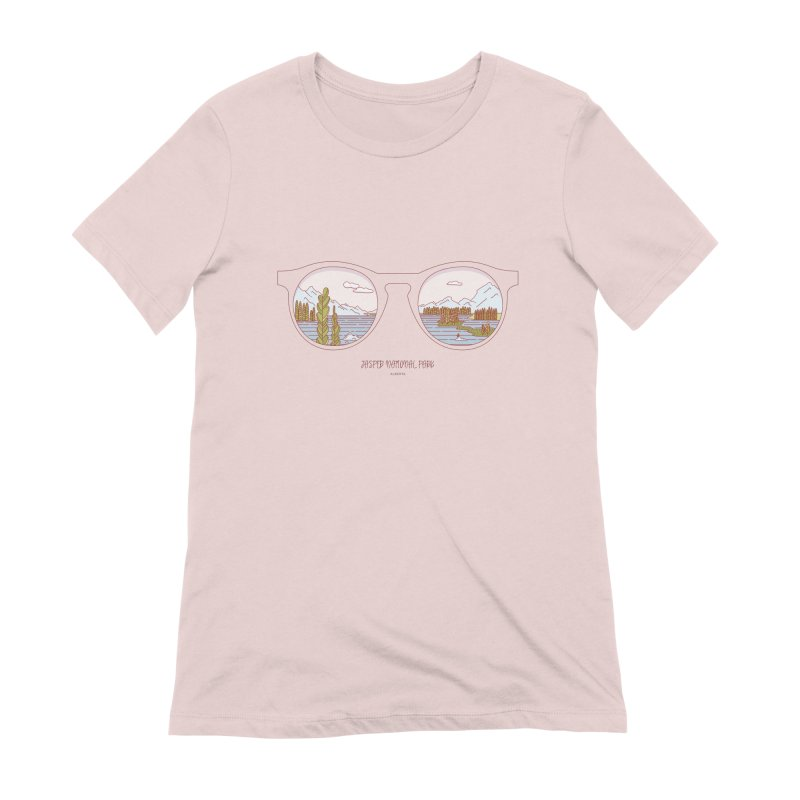 Canadian Sunnies | Jasper National Park Women's Extra Soft T-Shirt by whitechaircreative's Artist Shop